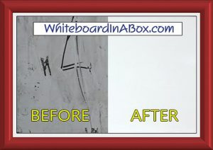 self stick dry erase